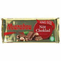 Marabou Lys Chokolade m. nødder Gigant 250 g